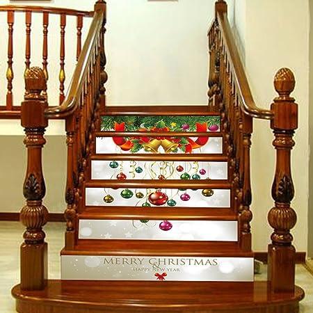 3D Escalera Pegatina Navidad DIY Individualidad Tridimensional Extraíble Escaleras De Navidad Pegatinas Escaleras Escénicas Pegatinas Decoración Creativa Impermeable Protección Del Medio Ambiente Papel Autoadhesivo: Amazon.es: Hogar
