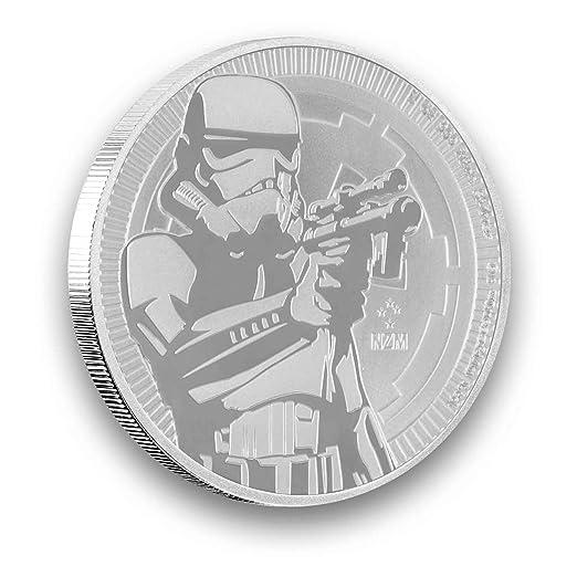 1 Unze Oz Silber Niue 2018 Stormtrooper Star Wars Neuseeland