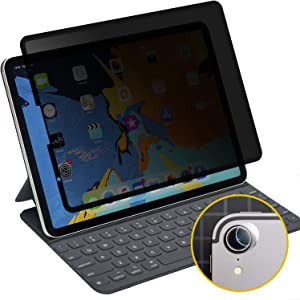 iPad Pro 12.9 Removable Privacy Screen Protector, Landscape Privacy Anti-Spy Filter, Anti Glare Scratch Resistant Film Compatible with iPad Pro 2018/19 Release/Apple Pencil Compatible