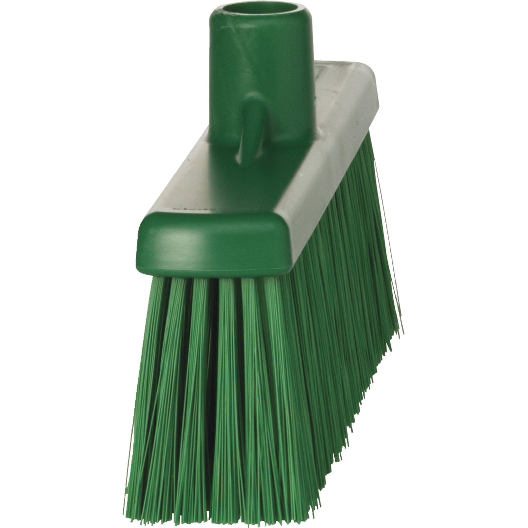 Vikan 31662 Medium Sweep Floor Broom Head, Polypropylene Block, 12-1/4'' Polyester Bristle, Green