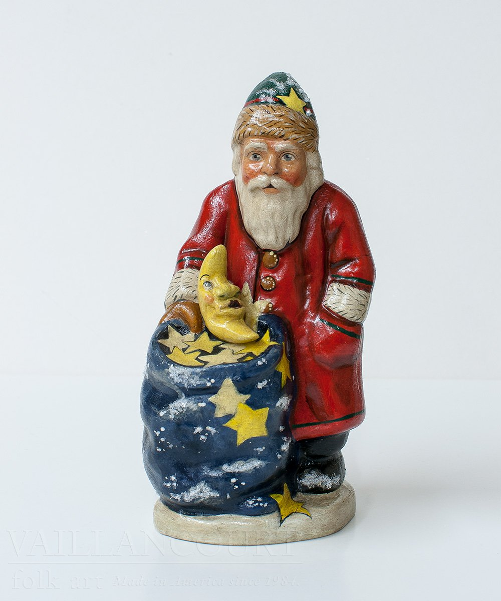 Giving You The Moon And Stars Santa by Vaillancourt Folk Art