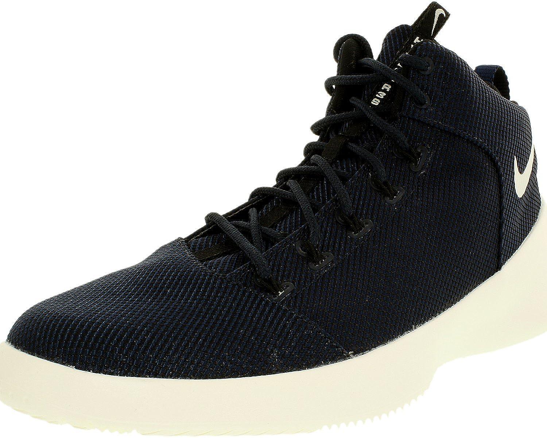 [ナイキ] Men's 759996 Ankle-High Fabric Basketball Shoe B005968I2M Obsidian/ Sail Black 10 D(M) US