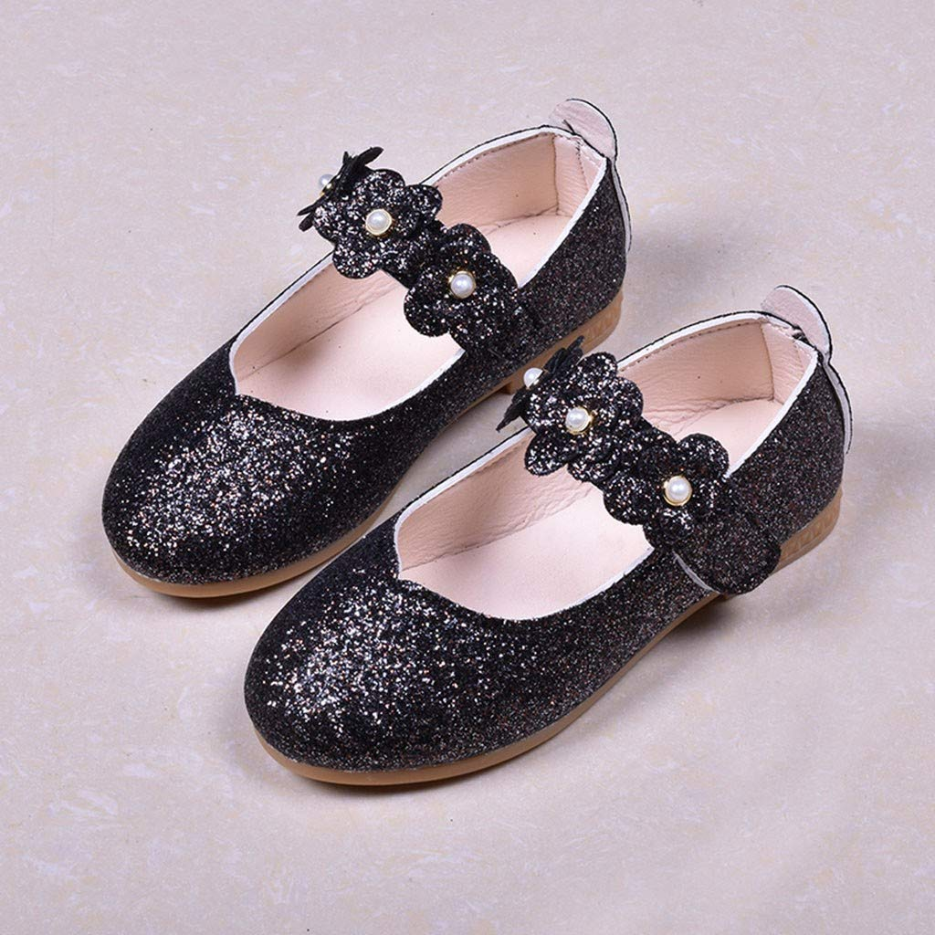 Jarsh Baby Girl Shoes Toddler Shining Flower Pearl Princess Soft Sole First Walkers Moccasinss Crib Shoes
