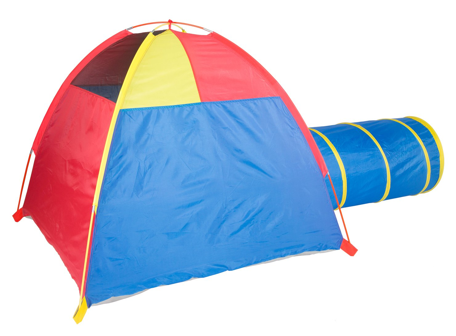 Outdoor Fun 20414 Pacific Play Tents Kids Hide-Me Dome Tent and Crawl Tunnel Combo for Indoor