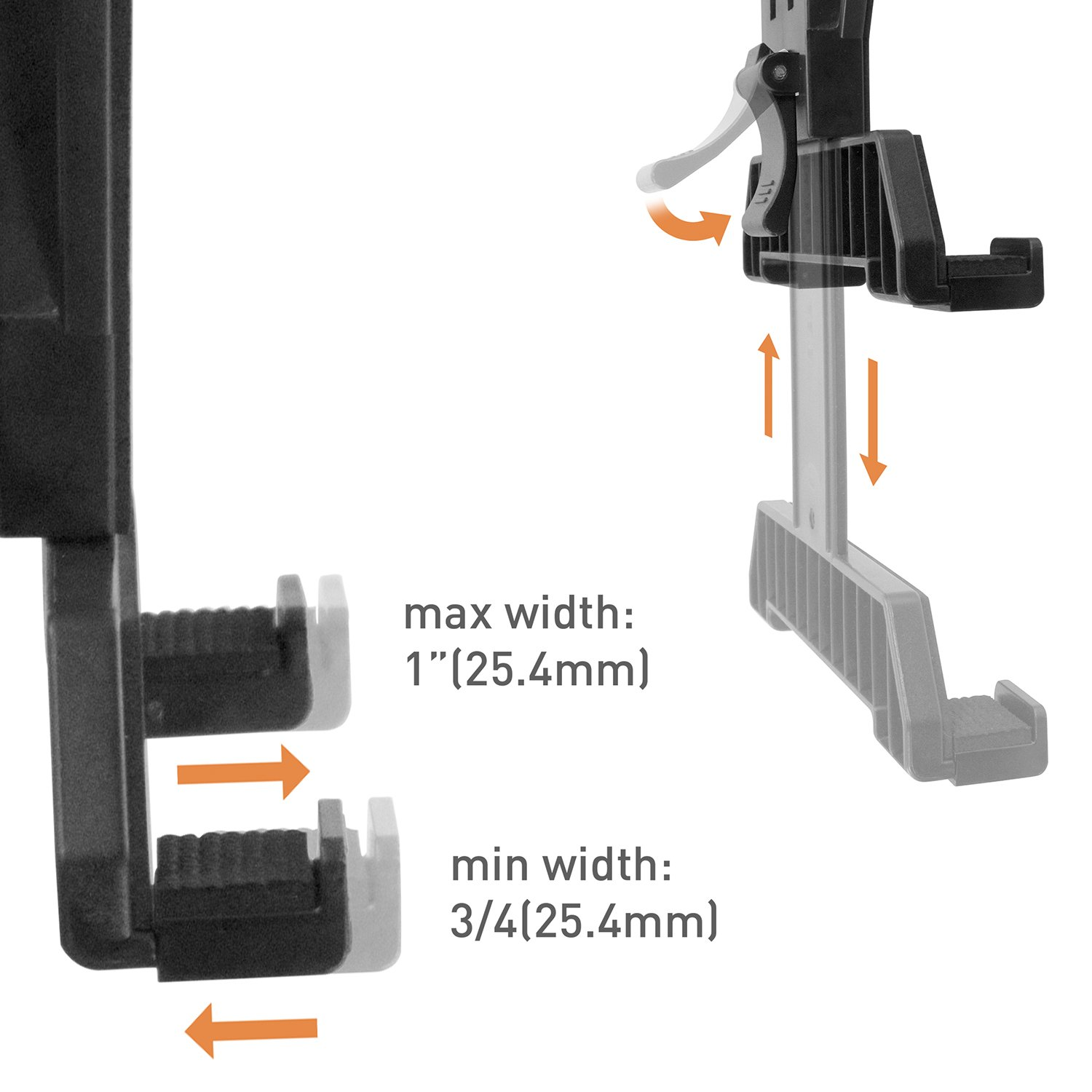 iBOLT TabDock Bizmount Clamp- Heavy Duty Dual-Ball C-Clamp mount for all 7'' - 10'' tablets (iPad, Samsung Galaxy Tab, etc.) For Desks, Tables, Wheelchairs, Carts: Great For Homes, Schools, Offices by iBOLT (Image #5)
