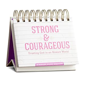 DaySpring Flip Calendar, Strong & Courageous (70942)