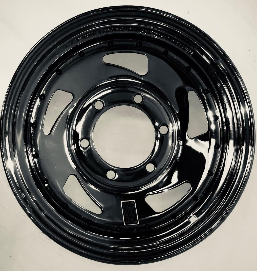 eCustomRim Trailer Rim JG 15X6 Directional Chrome 4.27 CB 6 Lug 2600 Lb.