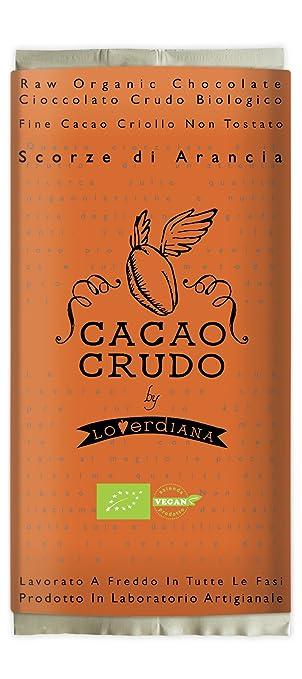 4 opinioni per Cibocrudo Cioccolato con Scorze di Arancia Tavoletta Cacao 77% Cruda- 50 gr