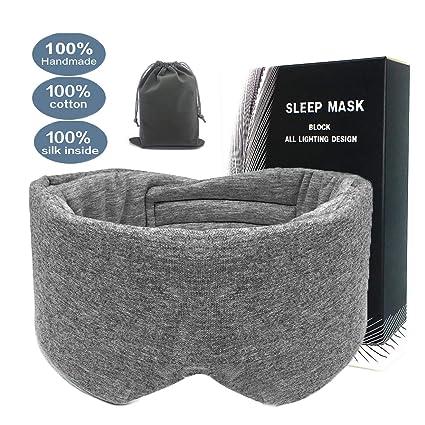 Amazon.com: Máscara de dormir de algodón 100% hecha a mano ...