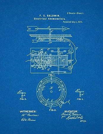 Amazon electrical anemometers patent print art poster blueprint electrical anemometers patent print art poster blueprint 13quot malvernweather Images