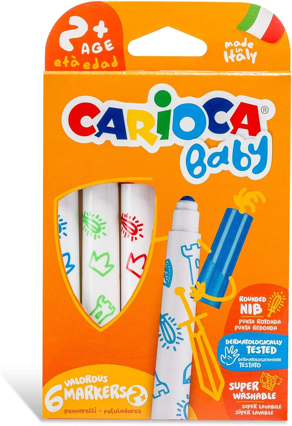 Carioca - Caja de 6 rotuladores Baby Marker (42813): Amazon.es: Juguetes y juegos