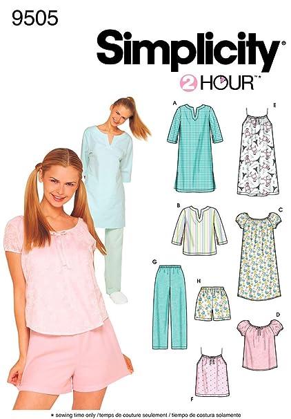 4c5b6a23ef Amazon.com  Simplicity Sewing Pattern 9505 Misses Sleepwear