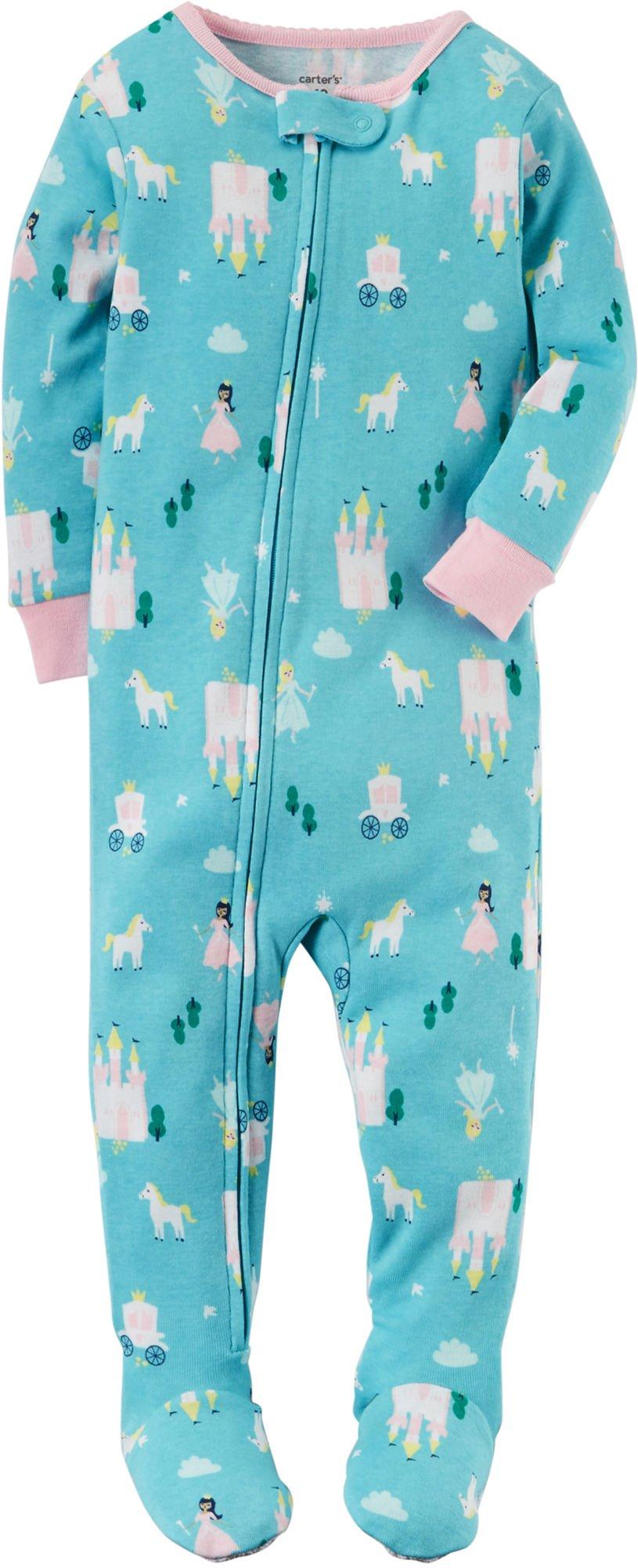 Carter's Girls' 18M-4T Princess Print One Piece Cotton Pajamas 18 Months