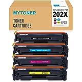 MYTONER 202X Compatible HP 202X / 202A CF500X CF501X CF502X CF503X Toner Cartridge for HP Color LaserJet Pro MFP M281fdw, M281cdw M254dw Series Printer,High Yield 4 Pack