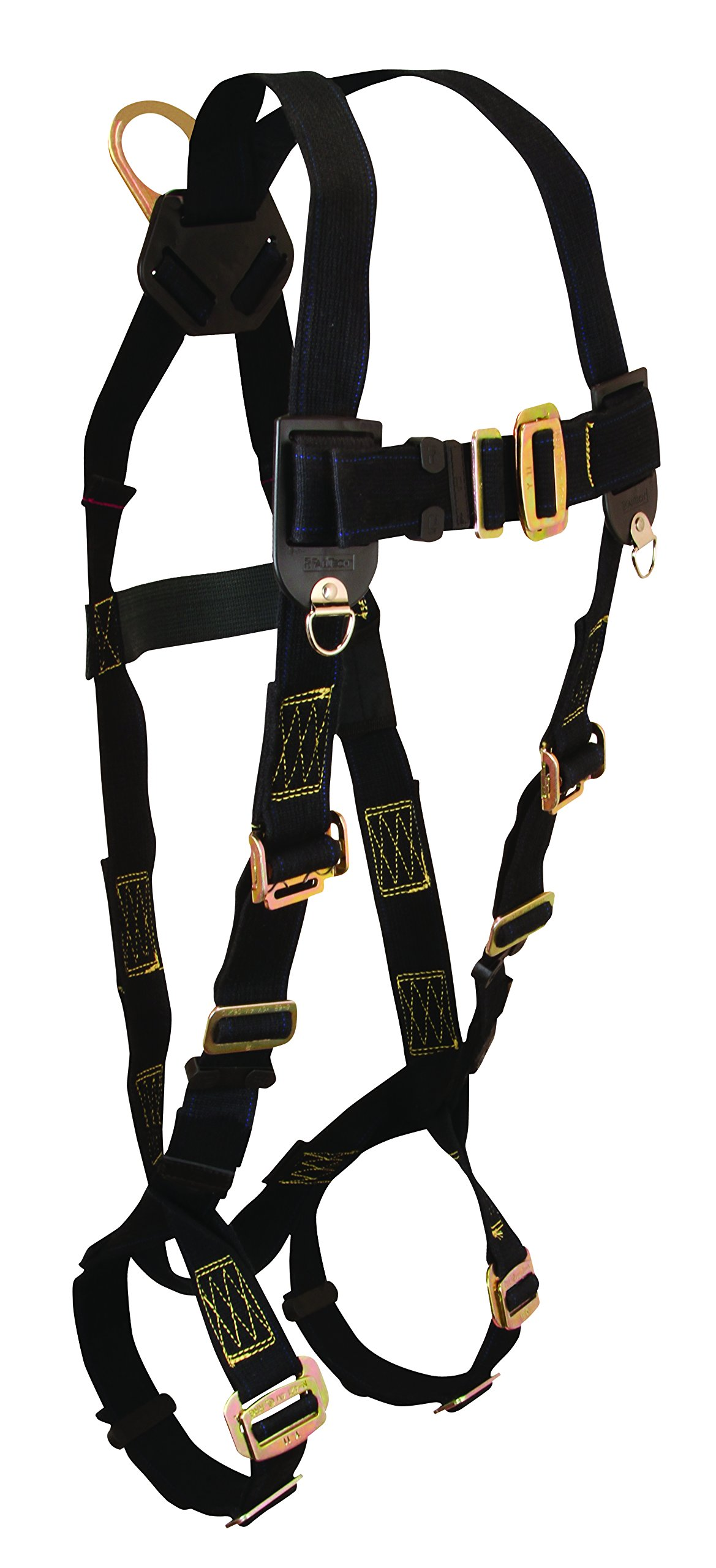 FallTech 7037 WeldTech Full Body Harness with 1 D-Ring and Mating Buckle Leg Straps, Universal Fit