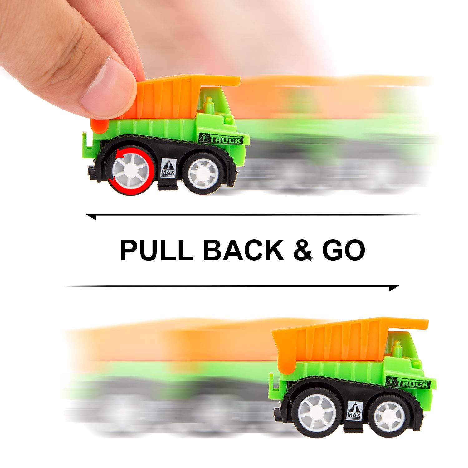 14 x 18 Construction Site Playmat Engineering Vehicle Sets 6 Construction Trucks 3 Road Signs Construction Vehicle Toys with Play Mat Mini Pull Back Car Toys