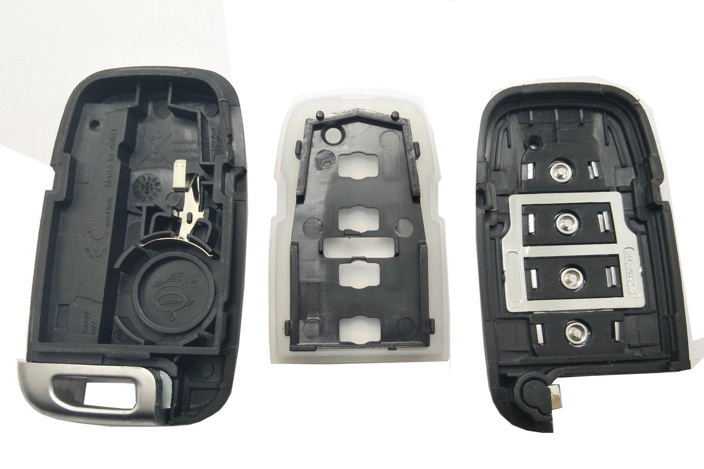 4 Buttons Replacement Smart Key Fob Case For Hyundai Sonata Genesis Elantra Key Fob Shell for Kia Key Fob Cover No Chip