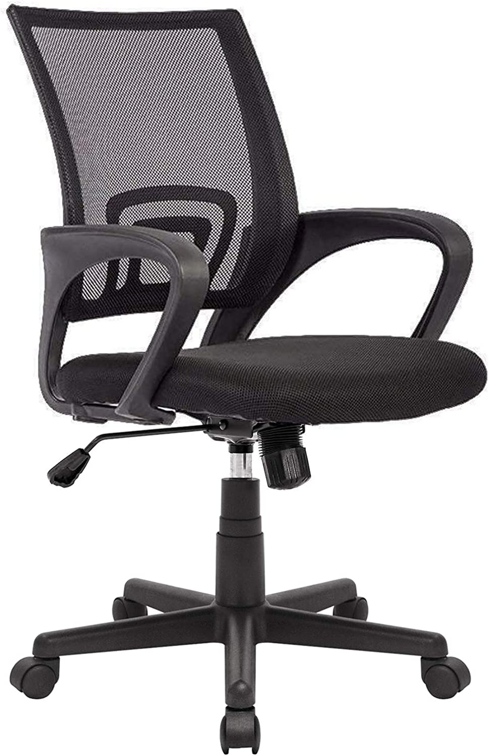 OFIKA 300LBS Office Chair Ergonomic Desk Chair, Adjustable Task Chair for Lumbar Back Support, Mesh Back Computer Chair, Rolling Swivel and Armrest, Modern Executive Home Office Desk Chairs (Black)