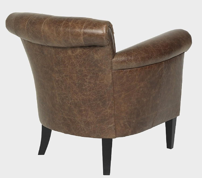 LuxuryLeather3 Lujo Sillón, sillón Chester Piel Texas Marrón ...