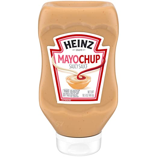 Heinz Mayochup Saucy Sauce, 16.5 Ounce Easy Squeeze Bottle, Delicious Ketchup and Real Mayonnaise Combination