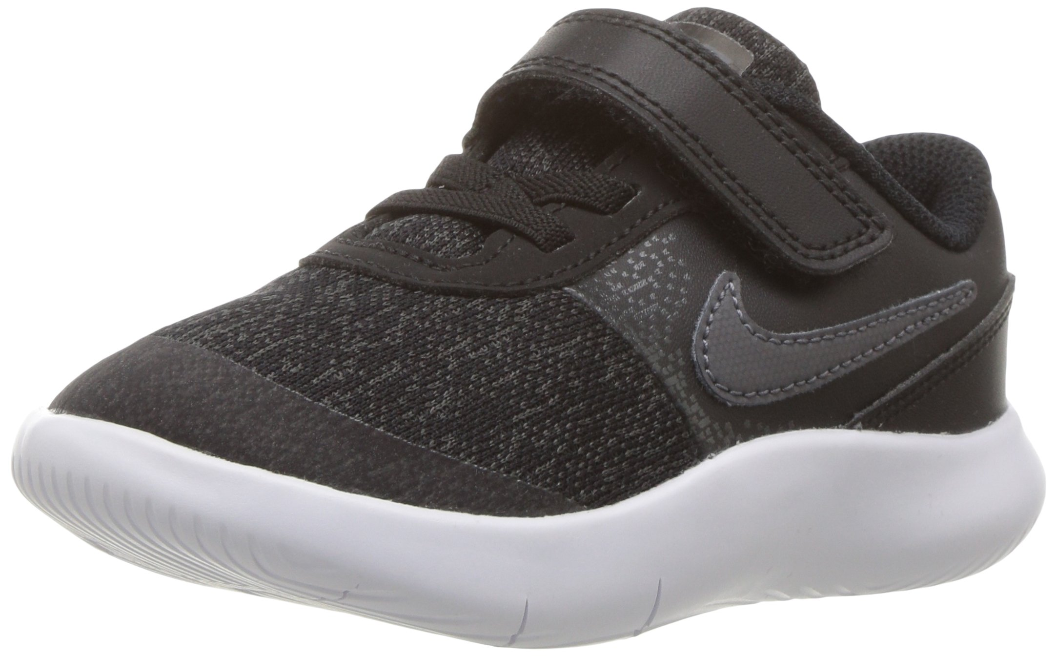 NIKE Toddler Flex Contact (TDV) Black DRK Gry Anthracite White Size 2