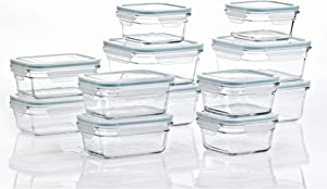 Glasslock 24 Piece Oven Microwave Safe Glass Food Storage Containers Set w/Lids