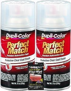 Dupli-Color Clear Perfect Match Automotive Top Coat - 8 oz, Bundles with Prep Wipe (3 Items)