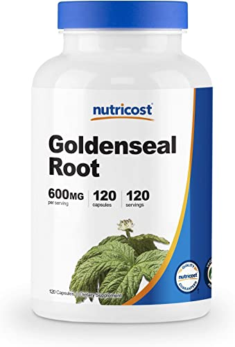 Nutricost Goldenseal Root 600mg, 120 Capsules – Non-GMO, Gluten Free, Veggie Capsules