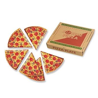 Supreme Housewares 70901 Pizza Slice Plates, (Box), Multi: Childrens Party Plates: Plates [5Bkhe1804001]