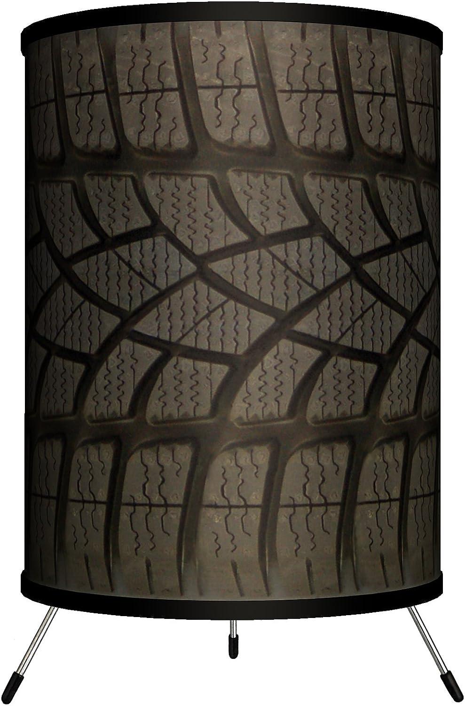 Lamp-In-A-Box TRI-TTN-Tread Transportation – Tire Tread Tripod Lamp, 8 x 8 x 14