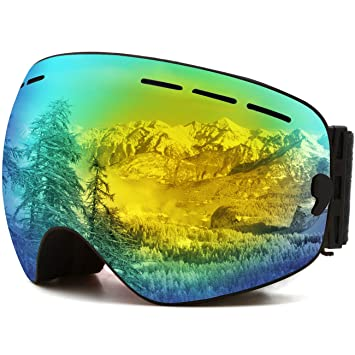 JULI Ski GogglesWinter Snow Sports Snowboard Goggles With Anti Fog UV Protection Interchangeable