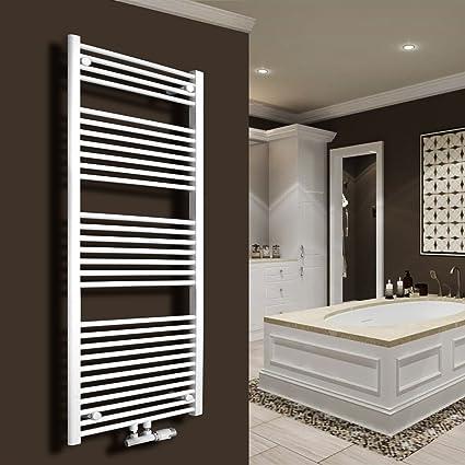 Baño Radiador Recto Color Blanco calefactor Radiador Toallero de radiadores (plano blanco 1150 x 500