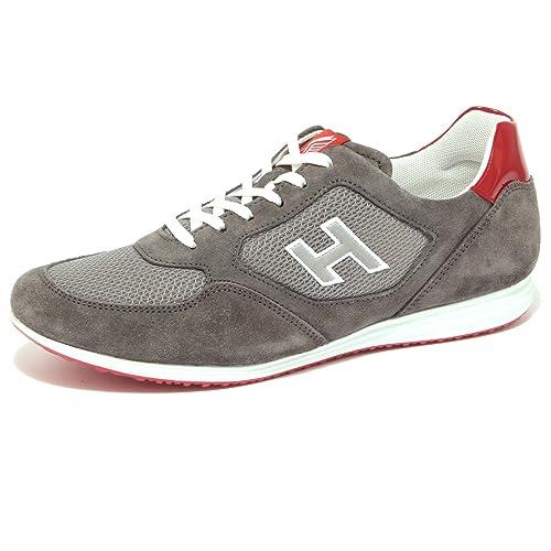 Hogan 4495Q Sneaker H205 Olympia Grigio Rosso Scarpa Uomo Shoe Men  10    Amazon.it  Scarpe e borse 92fadff6e39