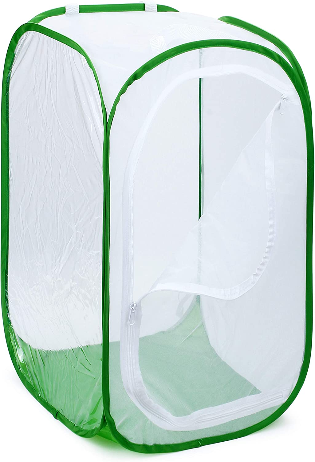 """RESTCLOUD 48"""" Large Monarch Butterfly Habitat, Giant Collapsible Insect Mesh Cage Terrarium Pop-up 28 x 28 x 48 Inches"""