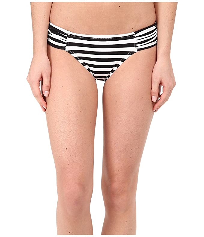 da076b7b8 Amazon.com  Tommy Bahama Women s Black   White Stripes Side Shirred Hipster  Bottoms  Clothing