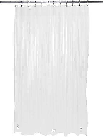 Transparent Shower Curtain Liner 100/% Vinyl 70x72 Magnetic Mildew Resistent New