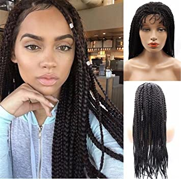 Amazon.com : Cool2day African American Wigs Long Black Box Twist ...