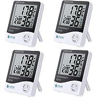 eSYNIC 4 Piezas Termómetro Higrómetro Digital Medidor de Humedad y Temperatura Termohigrometro para Interior y Exterior…