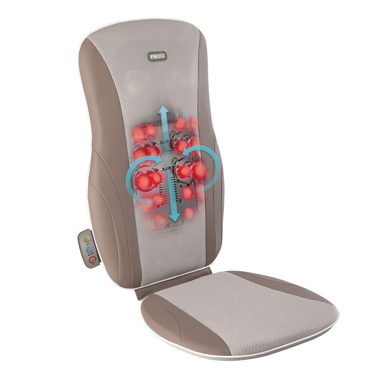 Amazon.com: HoMedics Shiatsu Cojín de masaje mcs-125h-thp ...