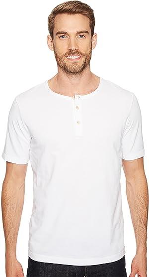 Mod-o-doc Men's Montecito Short Sleeve Henley White Shirt