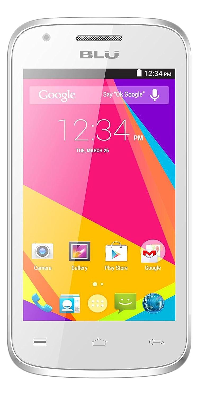 amazon com blu dash jr 4 0 k smartphone unlocked white cell