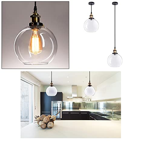 Gc Global Direct Globe Glass Ball Pendant Light Ceiling Lamp Size