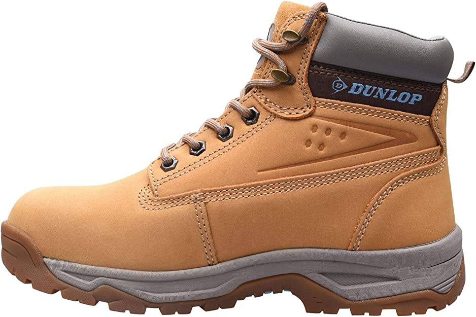 Dunlop Womens Georgia Safety Ladies Shoes Padded Ankle Collar Lace Up Fastening
