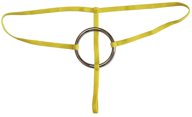 Esquki 男性用コットンオープンクロッチ下着Tバックソング B07D8S85Y8 Ring Yellow Ring Yellow