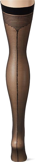 Gr Small Fiore Damen Strapsstr/ümpfe TEMPESTA//OBSESSION Black 001 20 DEN Herstellergr/ö/ße:2 Schwarz