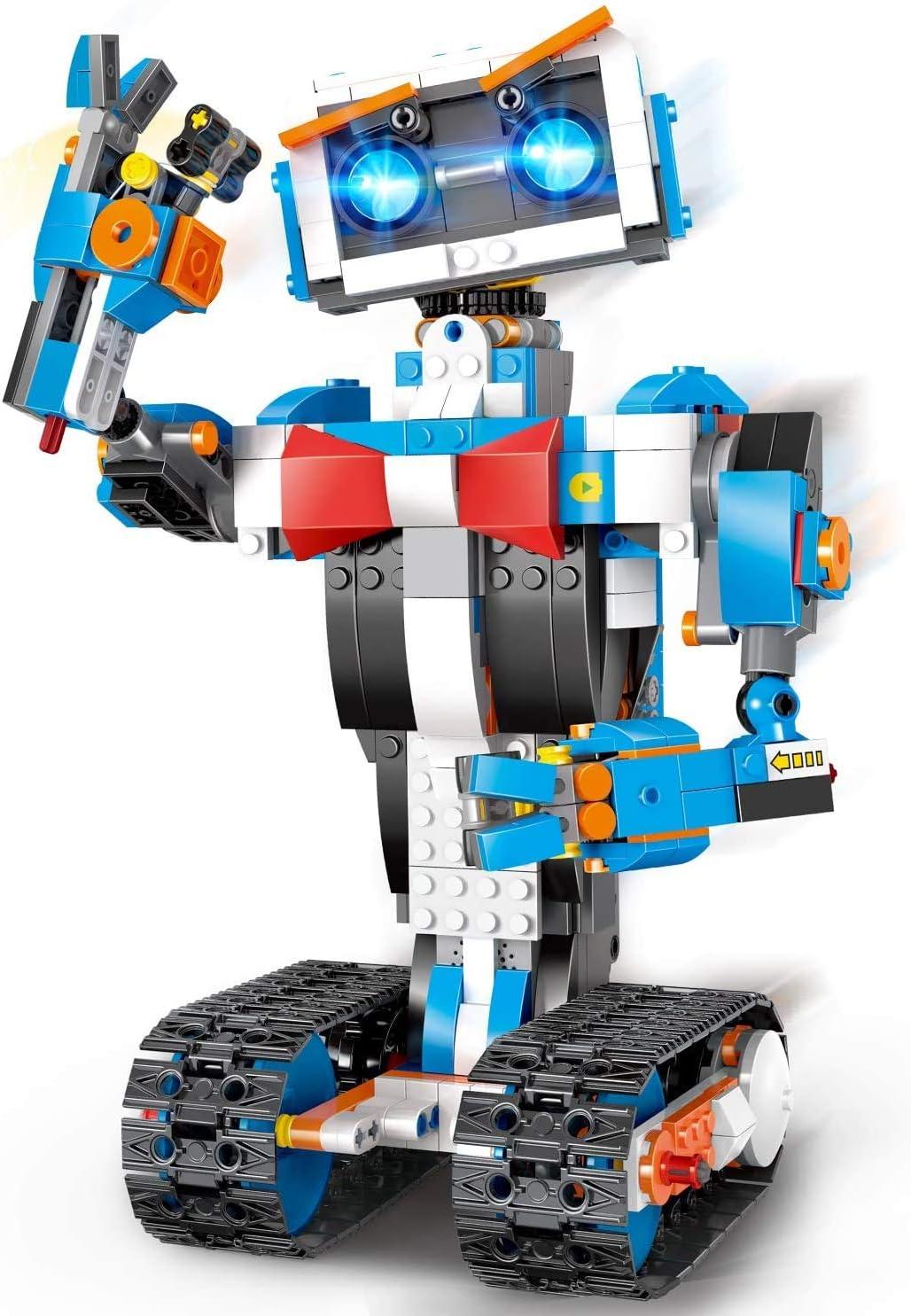 OKK Juguete Robot de Bloques de Construcción con Control Remoto Para Niños con Control de Aplicaciones, Ingeniería Científica Educativa STEM Build Kit Robótico Inteligente Interactivo Para Niños de