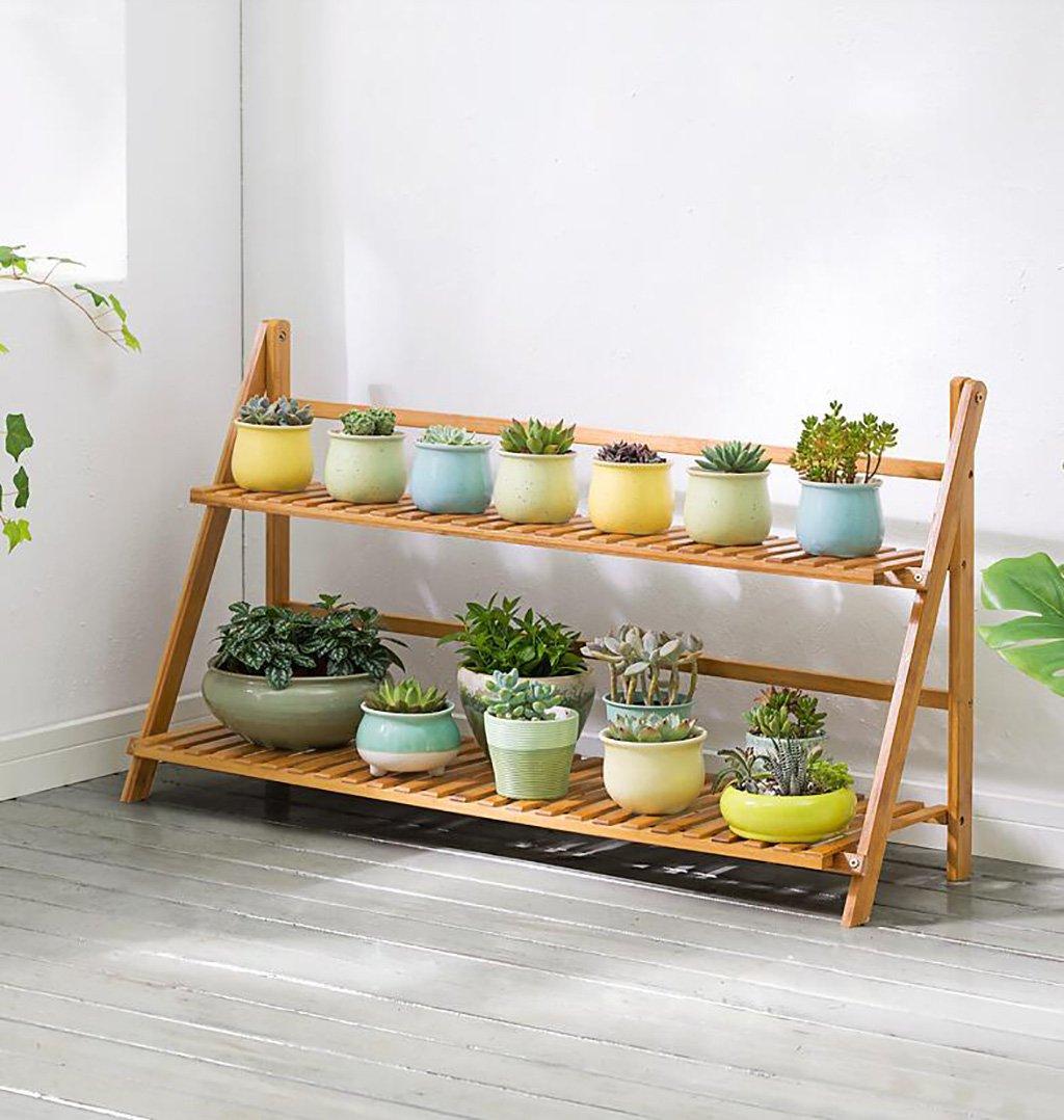 木製植物フラワーディスプレイスタンド木製ポットシェルフラック屋外屋内2階ポットホルダー (サイズ さいず : 100*31*56cm) B07DNP2QJ1   100*31*56cm