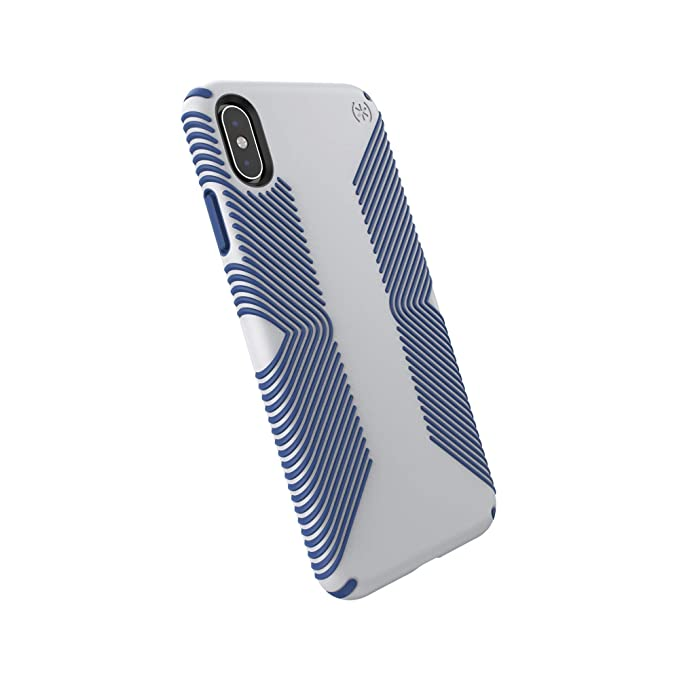 brand new 6c706 1097e Speck Products Compatible Phone Case for Apple iPhone XR, Presidio Grip  Case, Microchip Grey/Ballpoint Blue