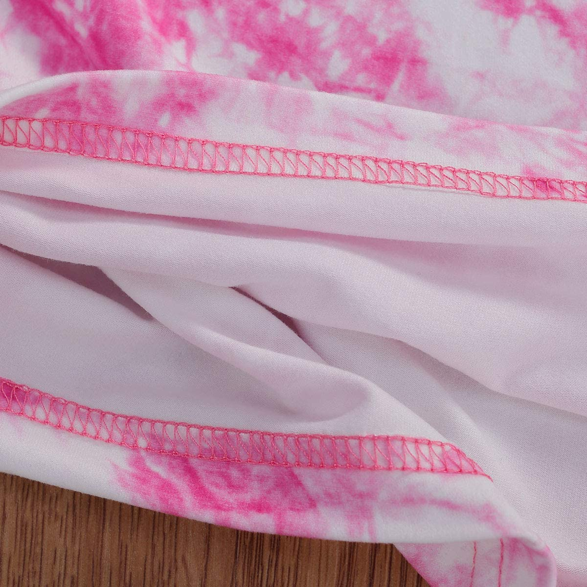 Toddler Baby Girl Boy Clothes Tie Dye Pajama Sleepwear Long Sleeve T-Shirt Tops Pants Outfit Set 2PCS Lounge