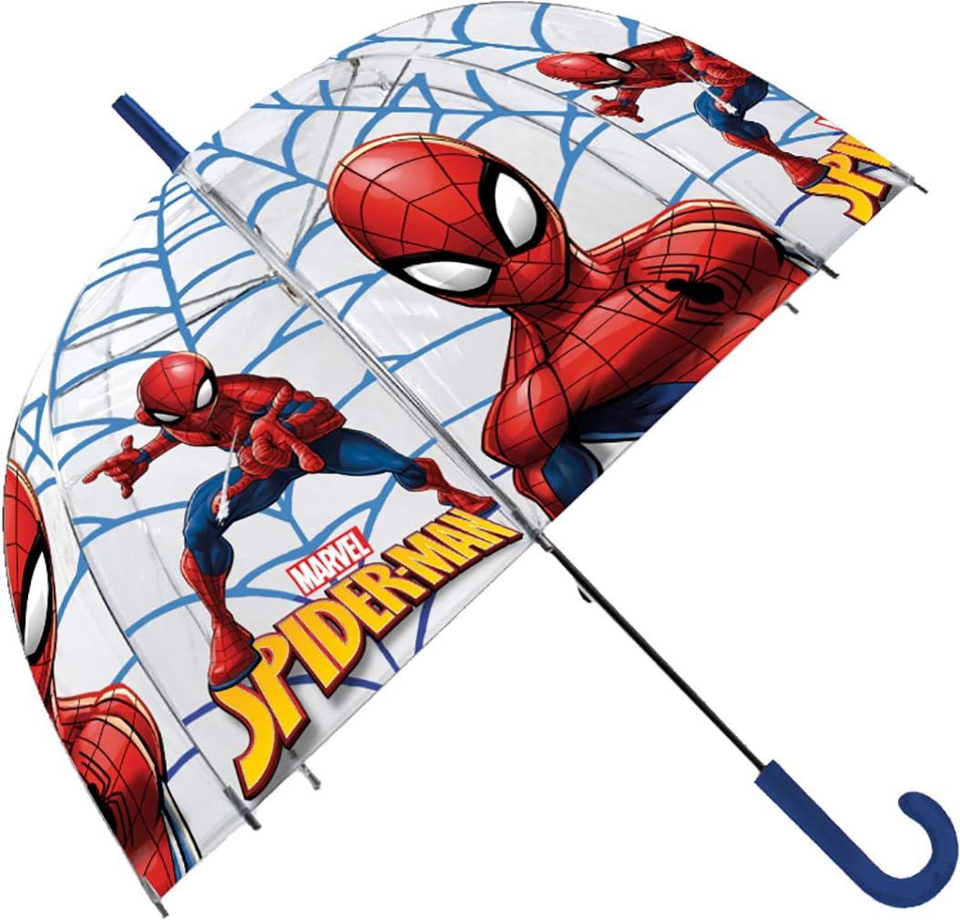 Spiderman Paraguas Transparente Campana, 69 cm de longitud: Amazon ...